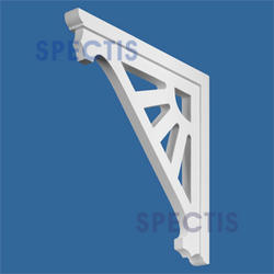"Spectis 12-3/16"" x 12-3/16"" x 1"" Decorative White Poly Bracket"