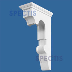 """Spectis 20-1/4"""" x 35"""" x 9-1/2"""" Decorative White Poly Block"""