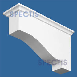 "Spectis 15"" x 8"" x 4"" Smooth White Poly Block"