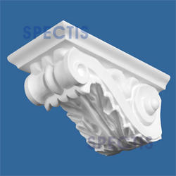 "Spectis 13-1/4"" x 6-1/2"" x 7-5/8"" Decorative White Poly Block"