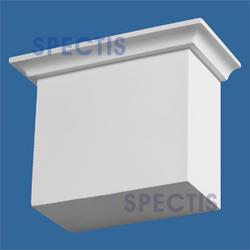"""Spectis 3-3/4"""" x 5-11/16"""" x 7-1/2"""" Smooth White Poly Block"""