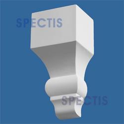 """Spectis 3"""" x 7"""" x 3-1/2"""" Smooth White Poly Block"""