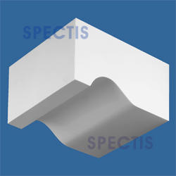 """Spectis 6-3/4"""" x 3"""" x 5"""" Right Pitch Smooth White Poly Block"""