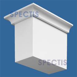 """Spectis 6"""" x 4"""" x 4"""" Smooth White Poly Block with 10/12 Right Pitch"""