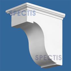 """Spectis 8"""" x 8"""" x 4-7/8"""" Smooth White Poly Block"""