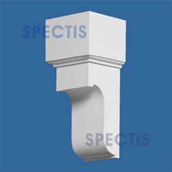 "Spectis 5"" x 8"" x 4-7/8"" Smooth White Poly Block"