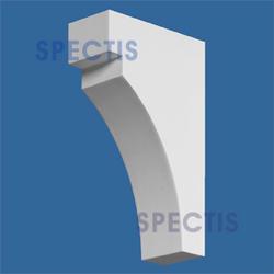 """Spectis 4-1/2"""" x 7-5/16"""" x 2"""" Smooth White Poly Block"""
