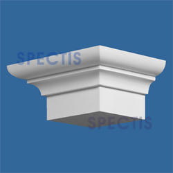 "Spectis 8-5/8"" x 5"" x 12-1/4"" Smooth White Poly Block"