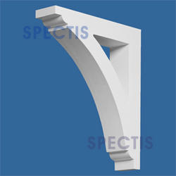 "Spectis 15"" x 18"" x 3-1/2"" Smooth White Poly Bracket"