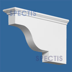 "Spectis 14"" x 9"" x 4-1/2"" Smooth White Poly Block"