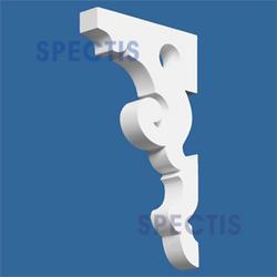 "Spectis 9-1/2"" x 17-1/4"" x 2"" Decorative White Poly Bracket"