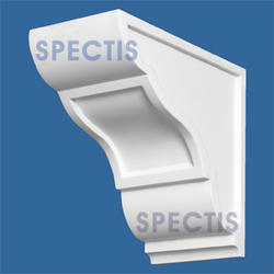 "Spectis 9-3/4"" x 9"" x 5"" Smooth White Poly Block"