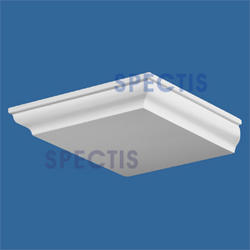 "Spectis 16-11/16"" x 2-1/16"" x 13-7/8"" Smooth White Poly Block"