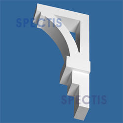 "Spectis 12"" x 28-1/4"" x 5-1/4"" Smooth White Poly Bracket"
