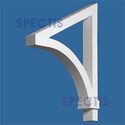 """Spectis 22"""" x 29"""" x 4"""" Smooth White Poly Bracket with 6/12 Pitch"""