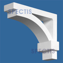 "Spectis 10"" x 8"" x 3-1/2"" Smooth White Poly Bracket"