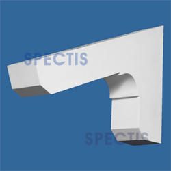 "Spectis 14"" x 9"" x 2-1/2"" Smooth White Poly Block with 5/12 Pitch"