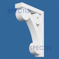 "Spectis 12"" x 16-1/2"" x 3"" Decorative White Poly Bracket"