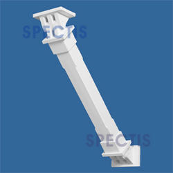 "Spectis 30-3/4"" x 30-3/4"" x 8"" Decorative White Poly Bracket"