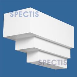 """Spectis 18"""" x 10-5/8"""" x 7-3/4"""" Smooth White Poly Block"""