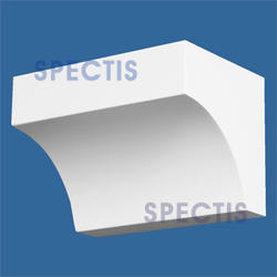 "Spectis 4"" x 4"" x 6"" Smooth White Poly Block"