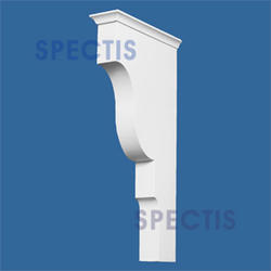 "Spectis 12"" x 24"" x 3-1/2"" Smooth White Poly Block"