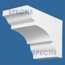 "Spectis 11-1/2"" x 7-3/4"" x 6"" Smooth White Poly Block"