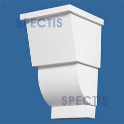 """Spectis 7"""" x 12"""" x 7-1/2"""" Hollow White Poly Block"""