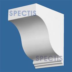 """Spectis 5"""" x 5-7/8"""" x 4"""" Smooth White Poly Block"""