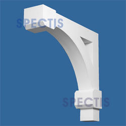 "Spectis 32"" x 30"" x 7"" Decorative White Poly Bracket"
