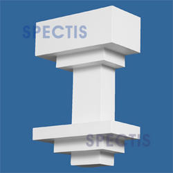 "Spectis 4"" x 12"" x 8"" Decorative White Poly Block"