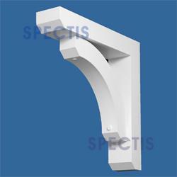 "Spectis 29"" x 29"" x 6"" Decorative White Poly Bracket"