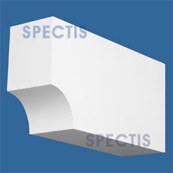 """Spectis 22"""" x 11-1/4"""" x 6"""" Smooth White Poly Block"""