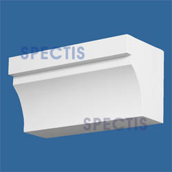 "Spectis 5-1/4"" x 6"" x 12"" Smooth White Poly Block"
