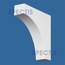 "Spectis 6"" x 6"" x 1-1/2"" Smooth White Poly Block"