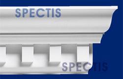 "Spectis 5-3/4"" x 8-5/8"" x 12' Dentil White Poly Moulding"