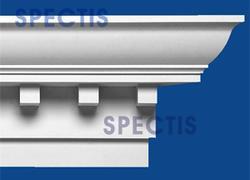 "Spectis 10"" x 14-1/2"" x 12' Dentil White Poly Moulding"