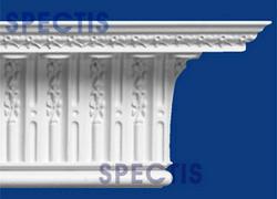 "Spectis 7-1/2"" x 11-3/4"" x 12' Decorative White Poly Moulding"