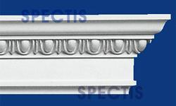 "Spectis 2-3/4"" x 5"" x 11' 6"" Decorative White Poly Moulding"