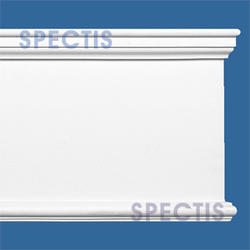 "Spectis 1-3/8"" x 10-3/4"" x 12' Smooth White Poly Moulding"