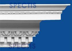 "Spectis 36"" x 36"" x 12' Decorative White Poly Moulding"