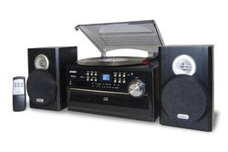 3-Speed Stereo Turntable with CD, Cassette and AM/FM Radio