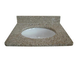 "Tuscany 61"" x 22"" 3CM Granite Vanity Top (8"" OC) Bowl"