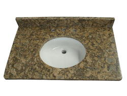 "Tuscany 37"" x 22"" 3CM Granite Vanity Top (8"" OC) Bowl"