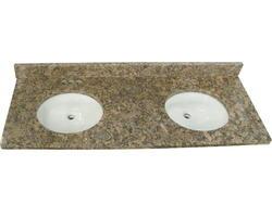 "Tuscany 61"" x 22"" 3CM Granite Vanity Top 2 (4"" OC) Bowls"