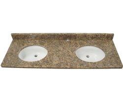 "Tuscany 61"" x 22"" 3CM Granite Vanity Top 2 (8"" OC)  Bowls"