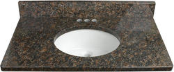 "Tuscany 31"" x 22"" 3 CM Granite Vanity Top"