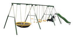8 Station Metal Swing Set