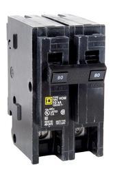 Square D™ Homeline™ 80 Amp, 120/240-Volt AC 2-Pole Circuit Breaker