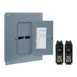 Square D™ Homeline™ 125 Amp, 12 Space/24 Circuits Indoor Main Lug Load Center Value Pack